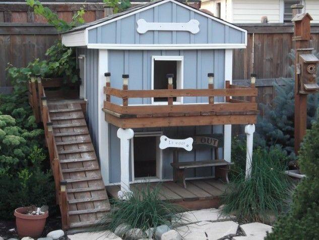 19 Totally Sweet And Fancy Dog Houses Casas Para Mascotas Casas