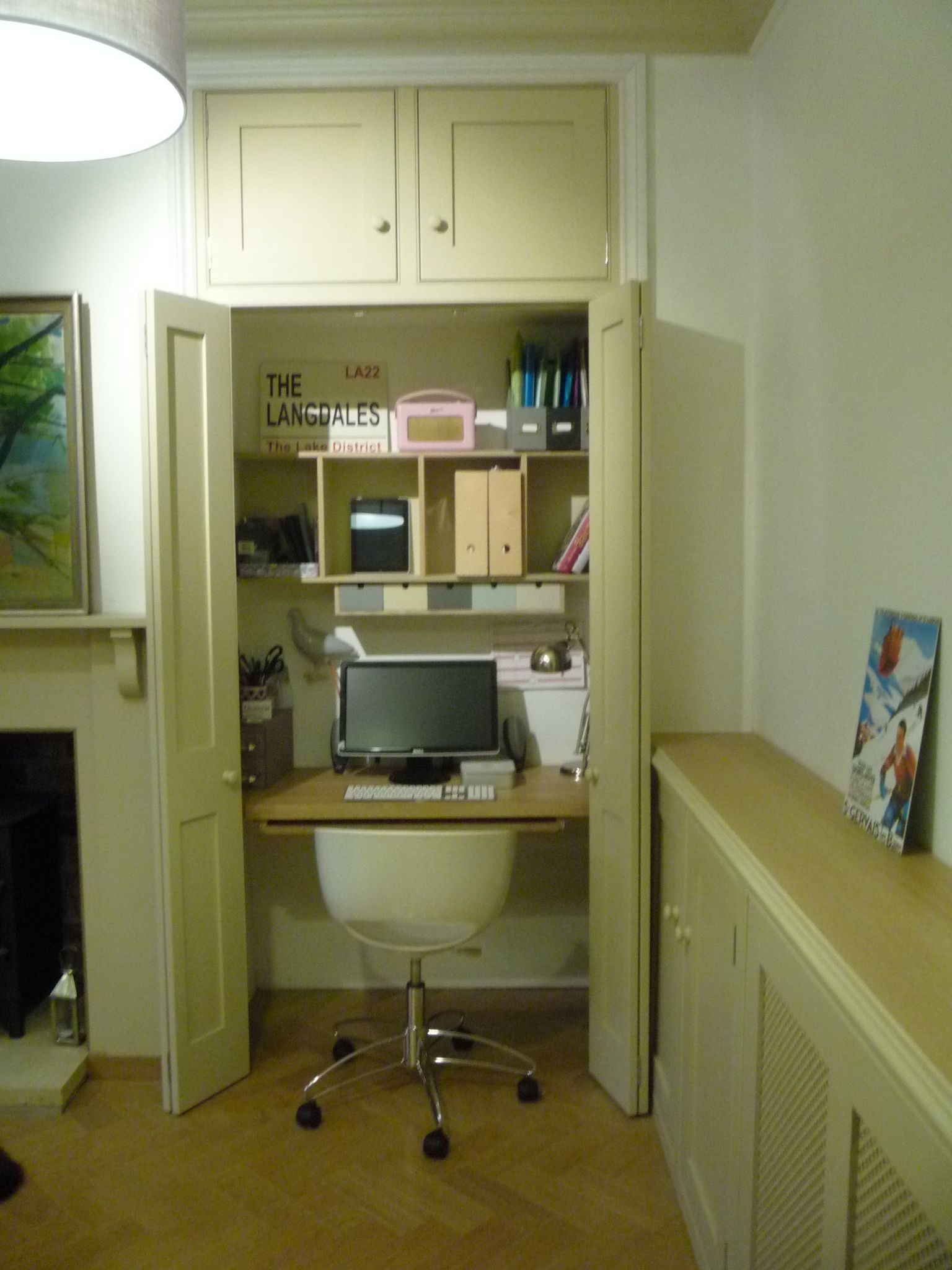 small office storage. Hideaway Home Office In Cupboard - Dining Room Small Storage