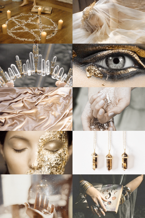 gold witch aesthetic (requested) { more here } { request here