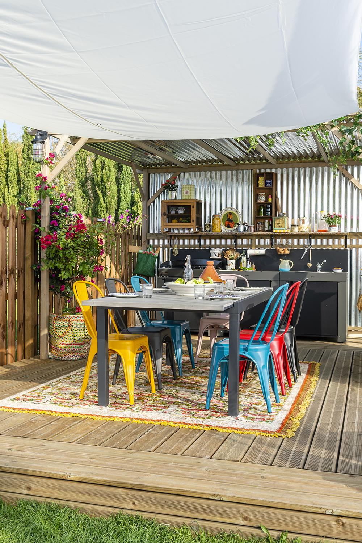 La Recette D Une Terrasse Reussie Creez Une Cuisine D Ete Avec Un Grand Plan De Travail Une Plan Idees De Patio Pieces A Vivre Dans Le Jardin Decor De Patio