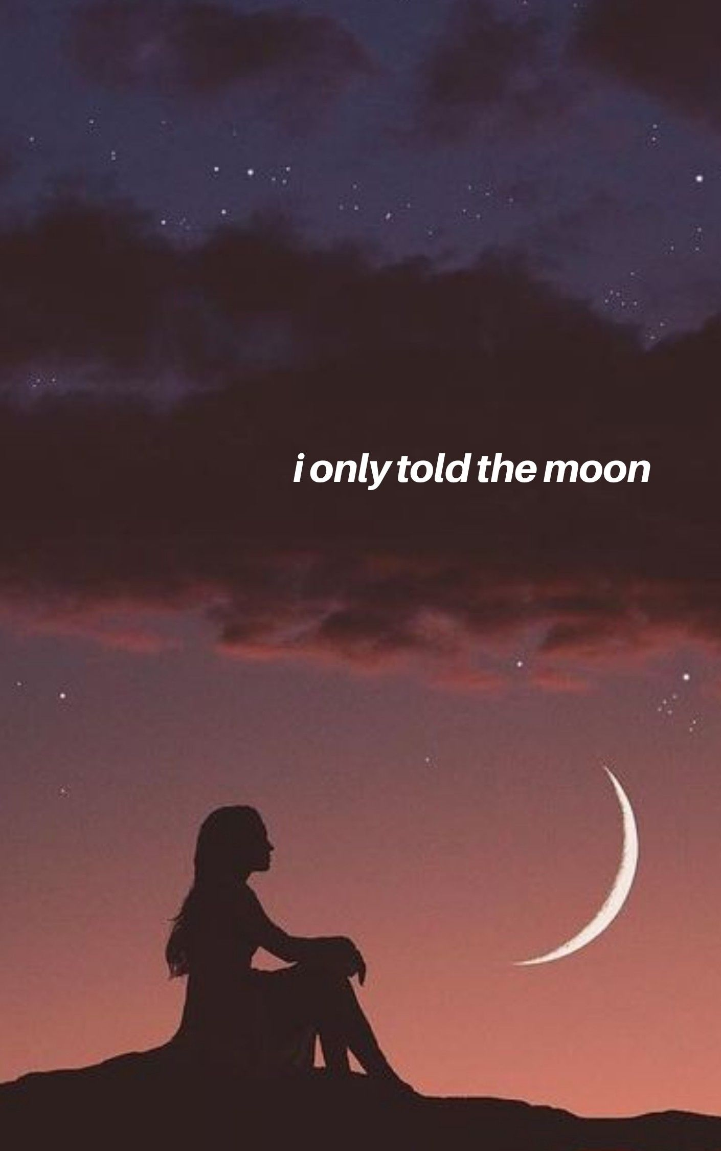 I Only Told The Moon By Camila Cabello Lyric Wallpaper Moon And Star Quotes Moon And Stars Wallpaper Song Lyrics Wallpaper