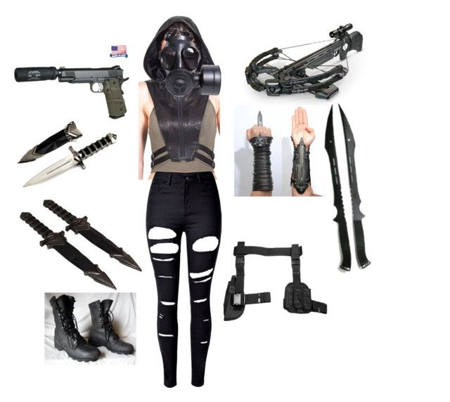 """""""Assassin (Outfit #1)"""" by ada101 on Polyvore featuring GAS Jeans and WithChic"""