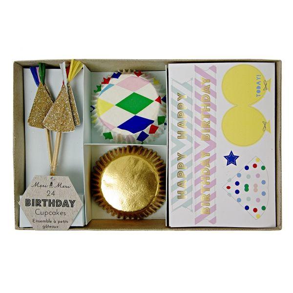 Maak circus cupcakes in een handomdraai met deze cupcakekit van Meri Meri