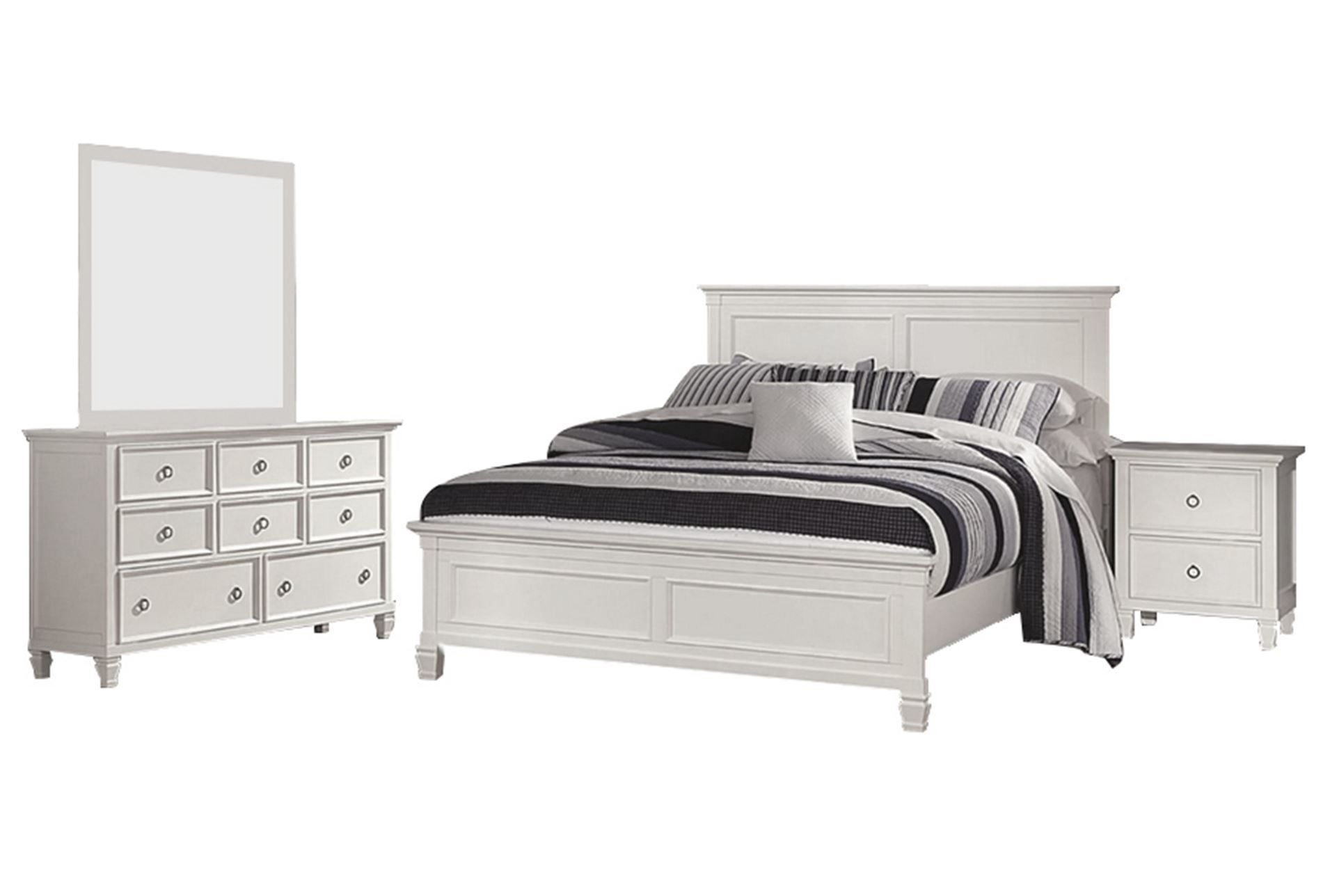 Albany Queen 8 Piece Bedroom Set  Living spaces furniture