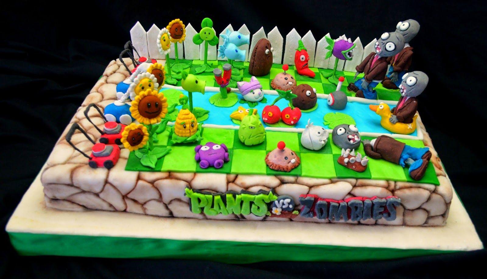 Decoración para cumpleaños de Plants vs Zombies | Plants vs zombies ...