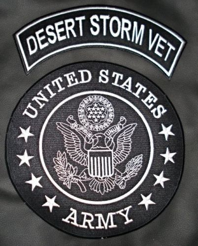 Us Army Desert Storm Vet Patches Set Rocker Center Back Patch For Vest Jacket High Quality Stitching Sealed Back To Easily S Combat Medic Army Medic Us Army