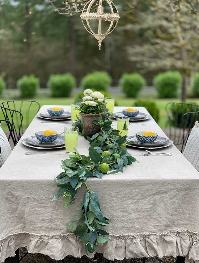 Spring Outdoor Table Ideas Hallstrom Home Outdoor Table Decor Outdoor Table Centerpieces Outdoor Table Settings