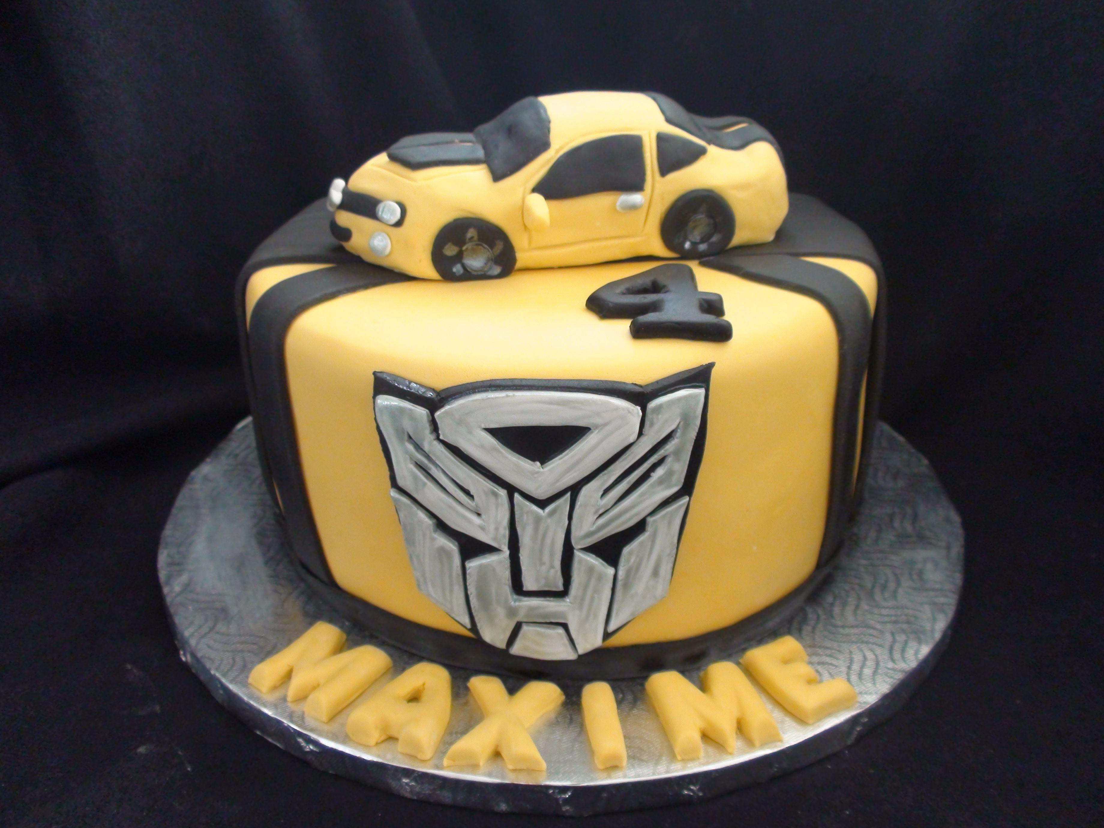 Transformer Bumblebee Cake Creation Maman Gateau My Own