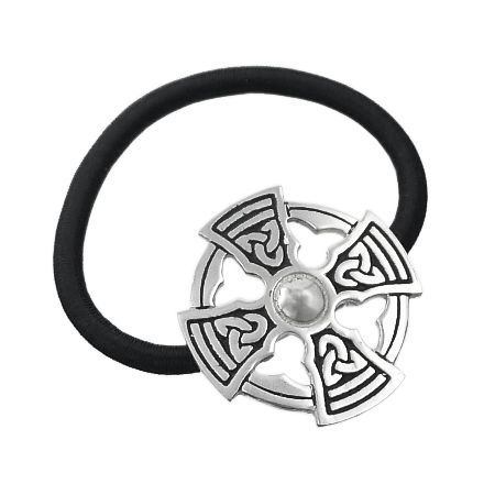 Ponytail band with Celtic Cross