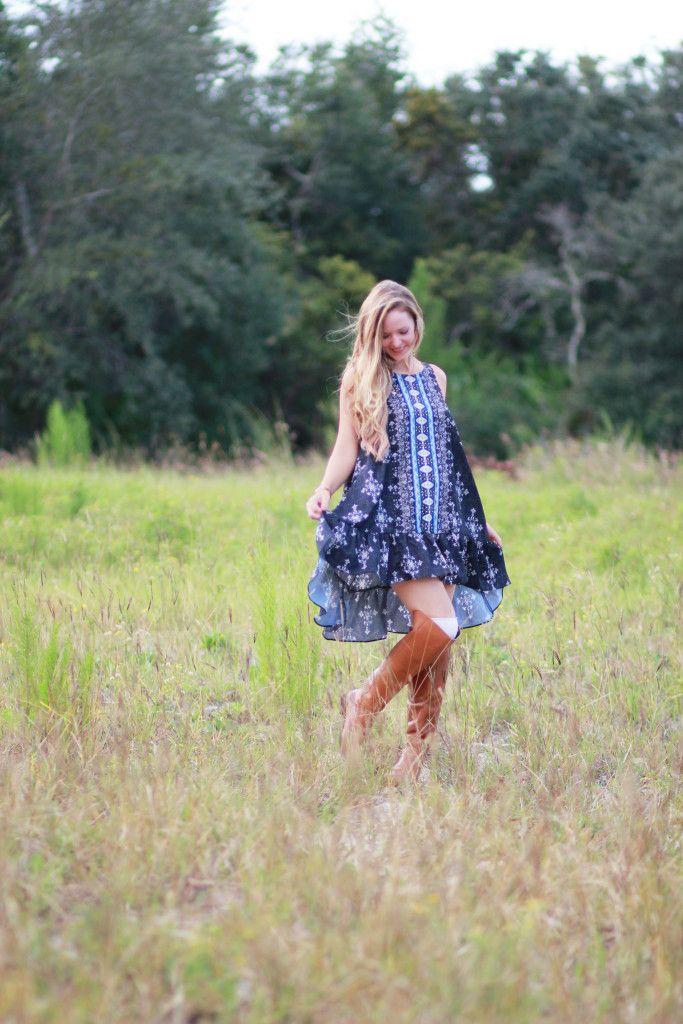 Boho Fall Dress | Upbeat Soles | Orlando Florida Fashion Blog