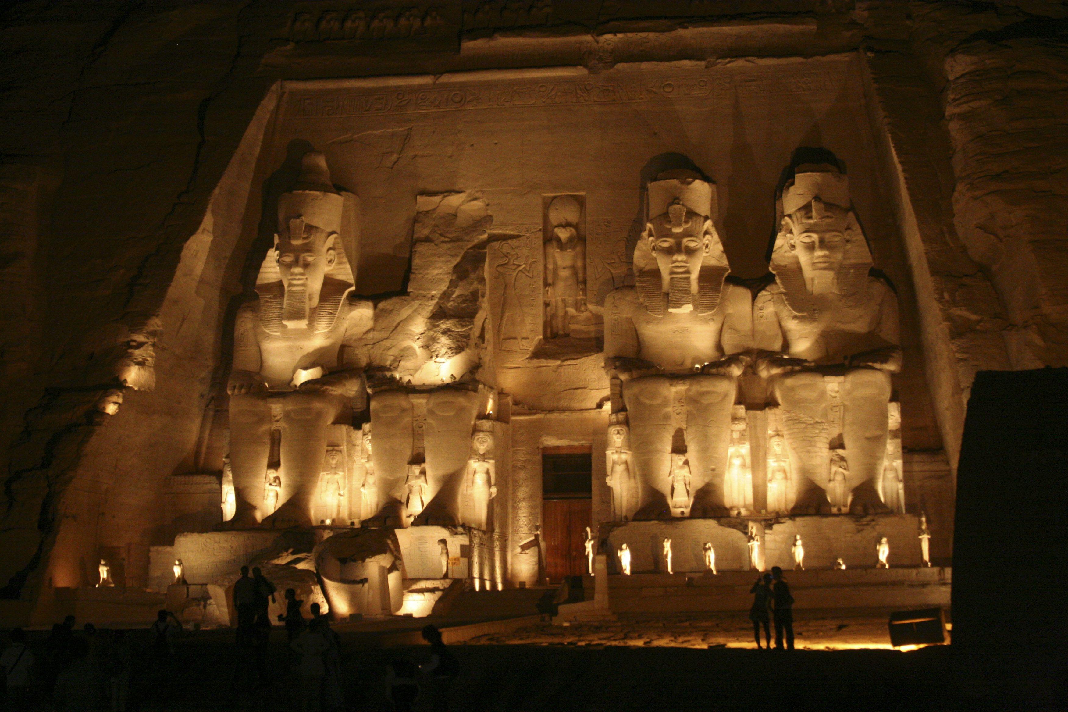 Abu Simbel at night, #Egypt