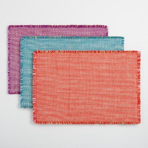 One Of My Favorite Discoveries At Worldmarket Com Geo Woven Jute Placemats Collection Placemats Woven Home Textile