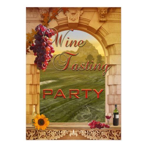 Vineyard Winery Wine Tasting Event Invitation