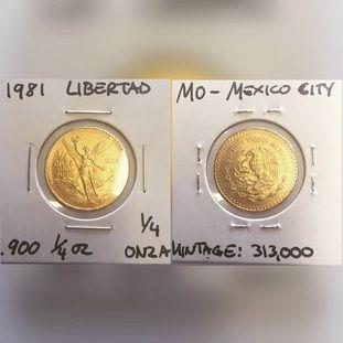 1981 Libertad gold coin