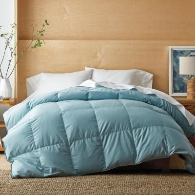 The Company Store White Bay Super Light Warmth Cloud Blue Full