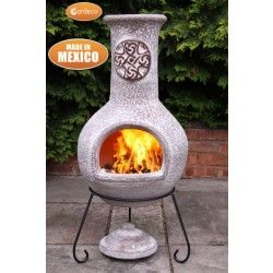 Tibor Mexican Chiminea Green Jumbo Chiminea Wood Burner Gas Fire Pit Table
