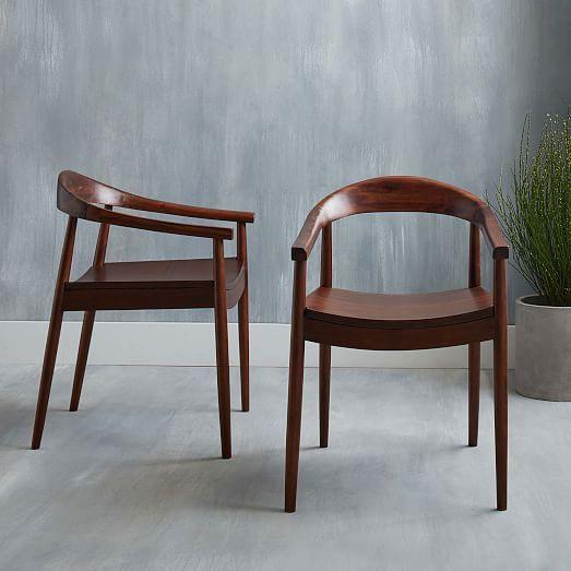 Mid Century Modern Dining Arm Chair