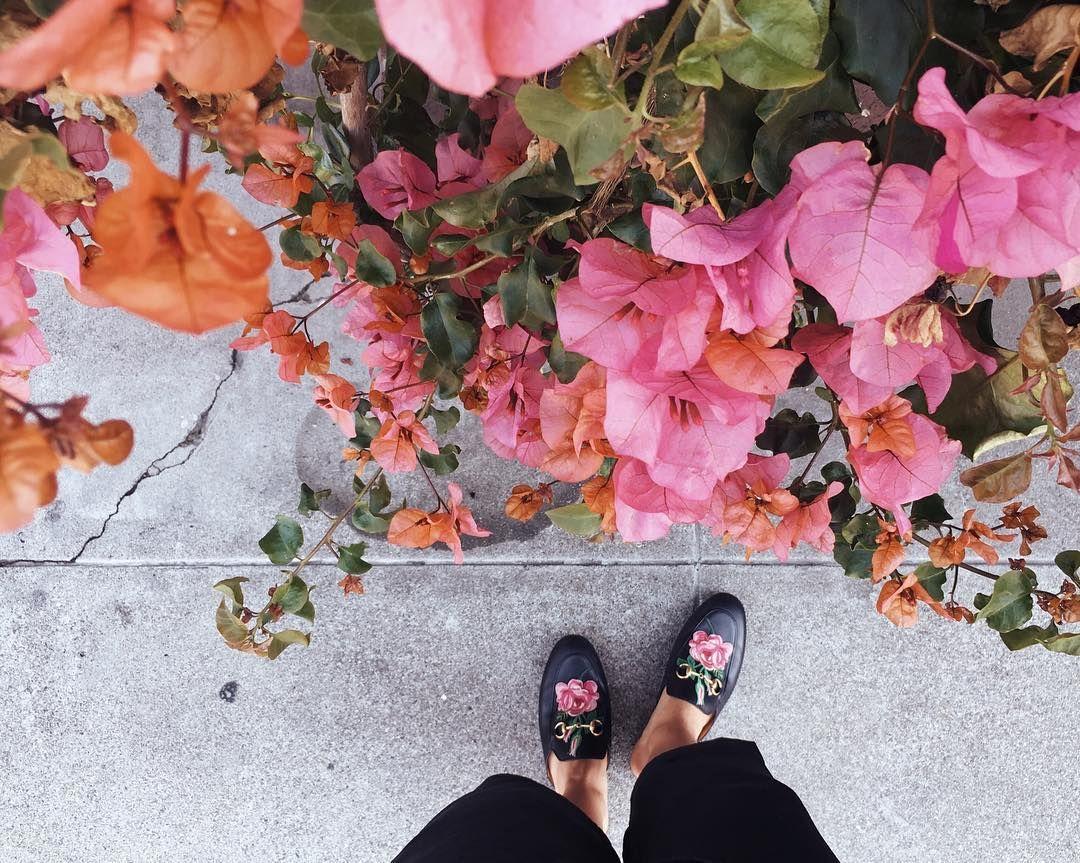 Julia Engel wears Gucci shoes