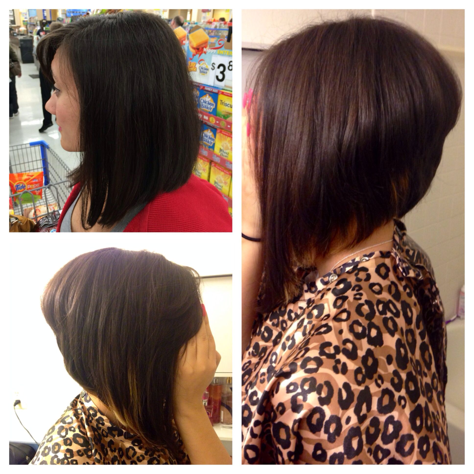 Dramatic Bob Haircut Before And After Haircut Should I Or