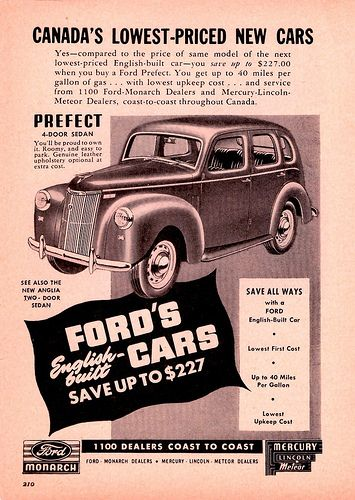 1950 Ford Prefect Ad Canada Ford Old Lorries Classic Cars Trucks