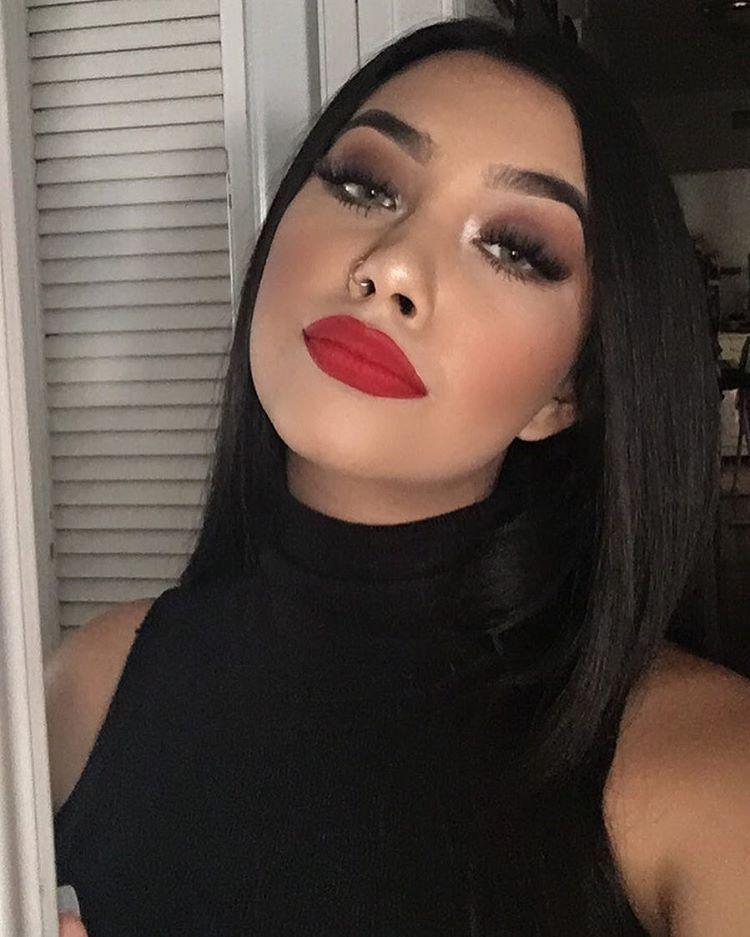 Pinterest Nandeezy Red Lips Makeup Look Red Lip Makeup