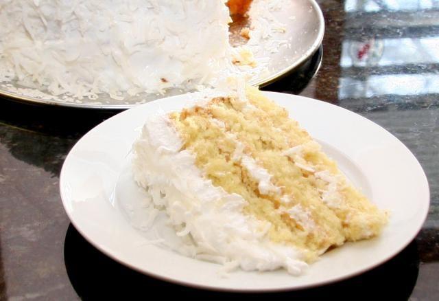 Heavenly Homemade Coconut Sour Cream Cake Recipe Sour Cream Recipes Sour Cream Cake Sour Cream Frosting