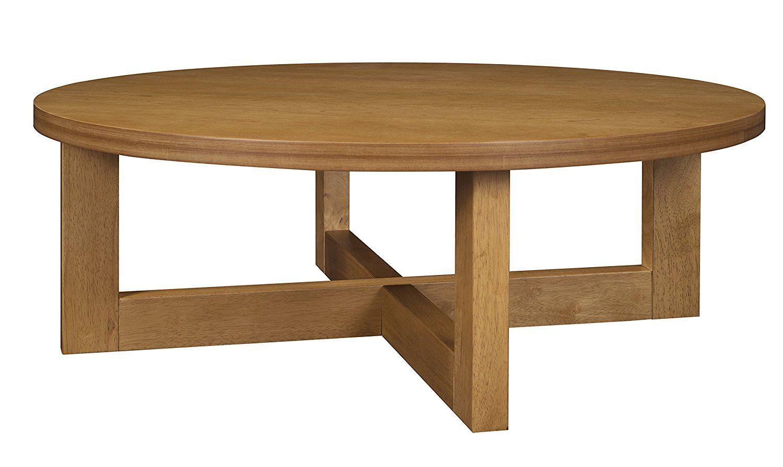 Amazon Com Regency Chloe 37 Inch Round Coffee Table Medium Oak