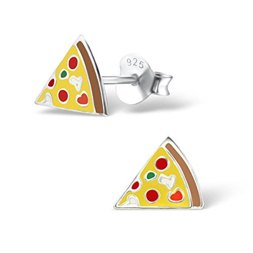 Girls Ice Cream Colorful Ear Studs 925 Sterling Silver
