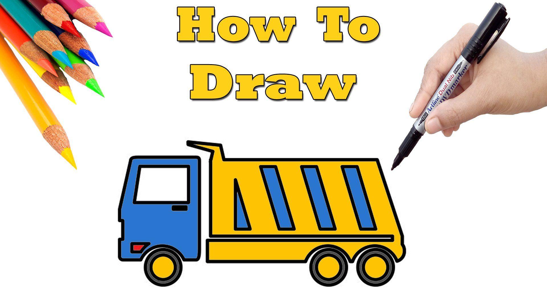 Easy Drawing For Everybody On Drawings Easy Drawings Dump Trucks