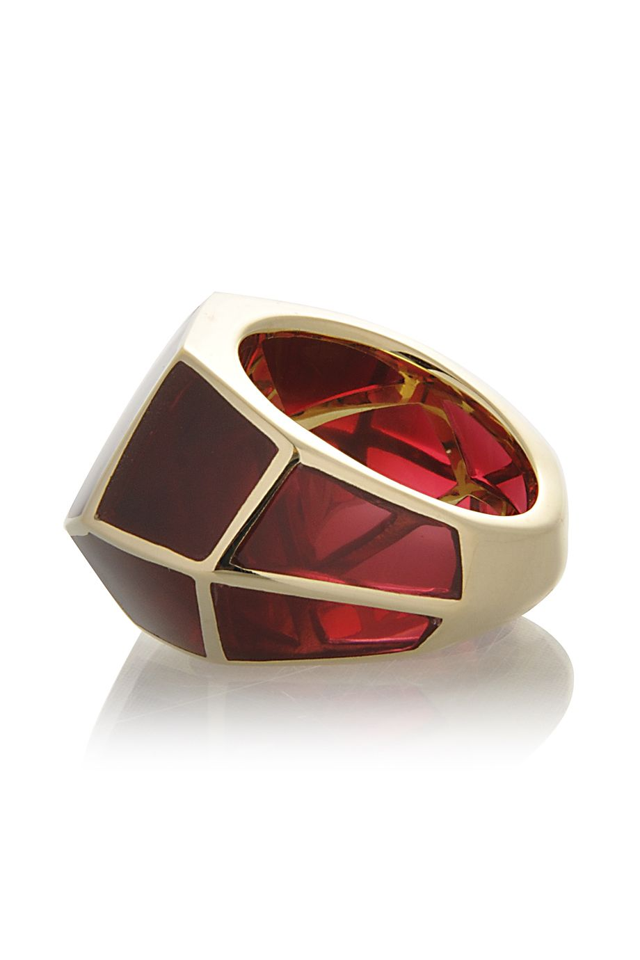 ISHARYA 	  LOUVRE Red Wine Resin Ring