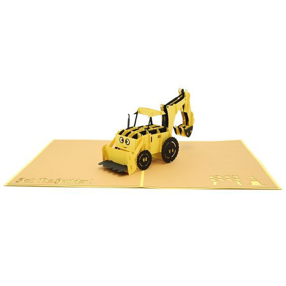 Bob The Builder Pop Up Card Pop Up Birthday Card 3d Card High Quality Wholesale Custom New Designs Pop Up Card La Pop Up Greeting Cards Love Pop Up Cards Greeting