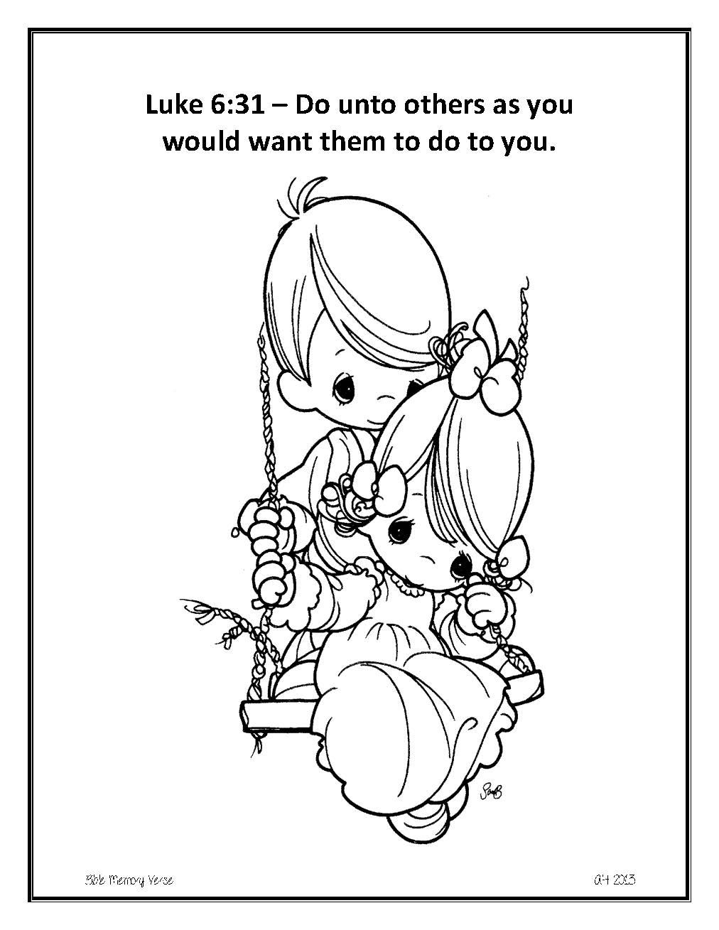 bible memory verse coloring pages - photo#6