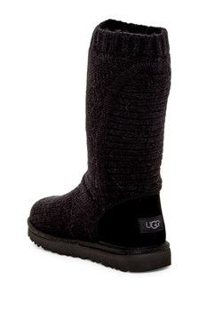 343419df834 UGG Australia Capra Ribbed Knit Genuine Shearling Lined Boot | Shoes ...