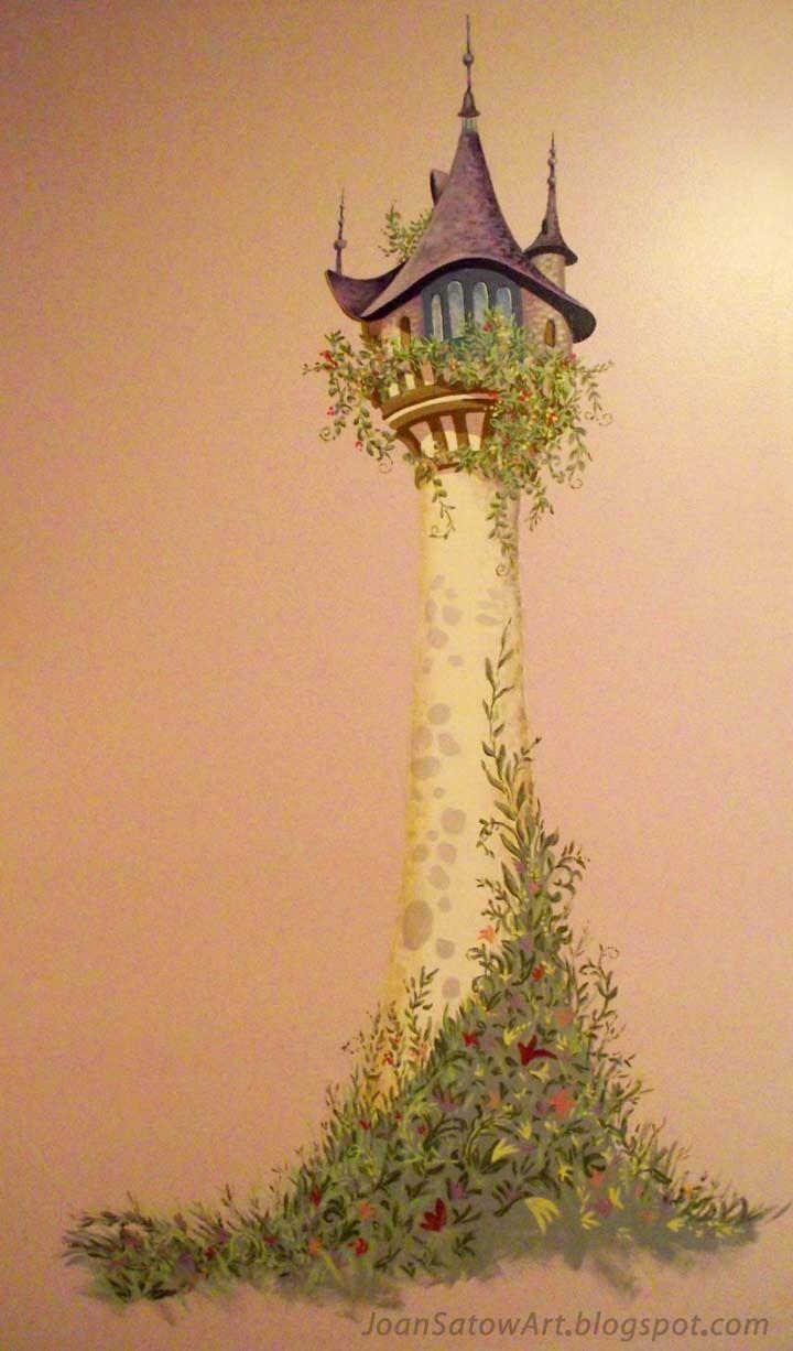 Joan satow wall murals repunzels tower my favorite viv 39 s favorite pinterest wall murals - Tangled tower wallpaper ...