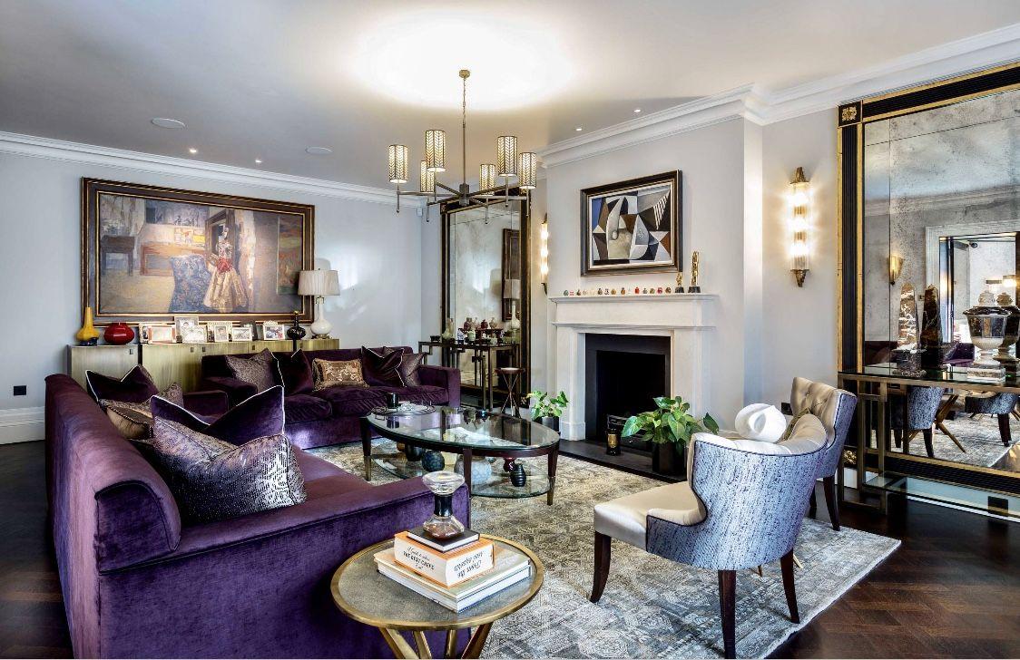 Eclectic Purple Living Room Decor Purple Living Room Li