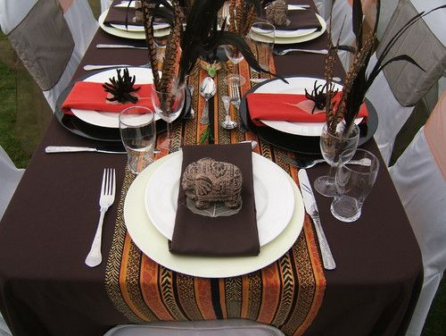 African themed tablescape in 2019 Traditional wedding