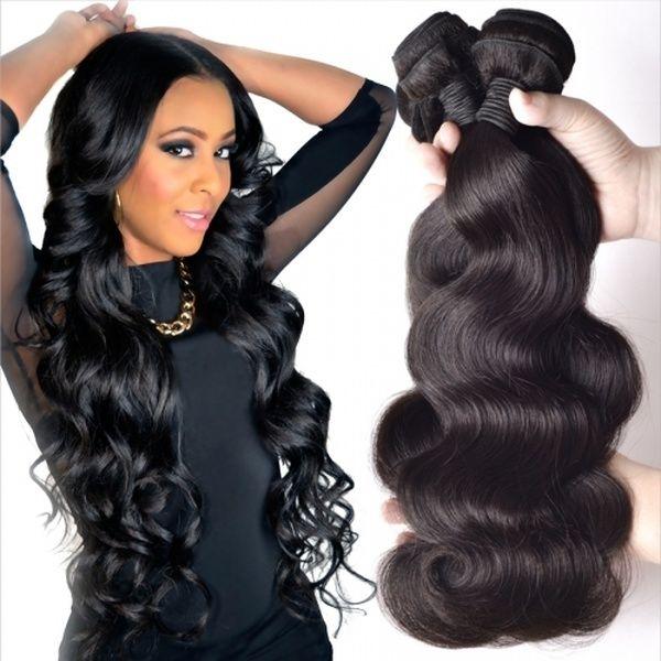 1 Bündel 10A grade Brasilianische Körperwelle 100% Menschliche Jungfrau Remy Haarwebart Natürliche Schwarz Braun Farbe Haarverlängerungen