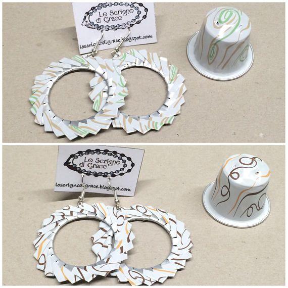 Vortex Earrings With Nespresso Capsules Nespresso Craft And Crafty