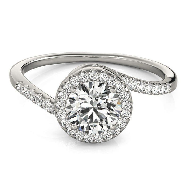 Get The Best Price For Your Diamond In Delhi Without Any Kind Of Extra Charges They Provide With Images Round Diamond Engagement Rings Moissanite Engagement Ring Rose Gold