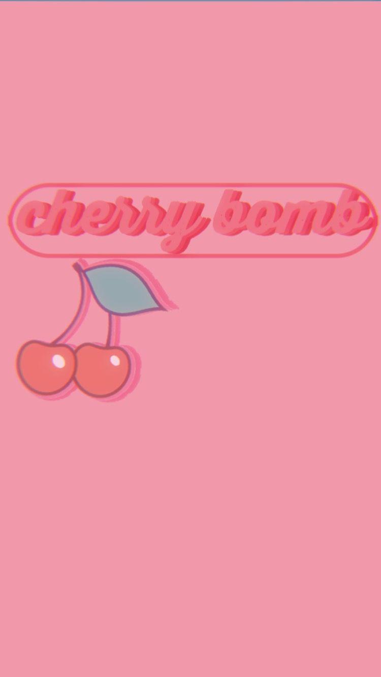 Cherry Bomb Wallpaper Aesthetic Iphone Wallpaper Cherry Bomb Pink Aesthetic