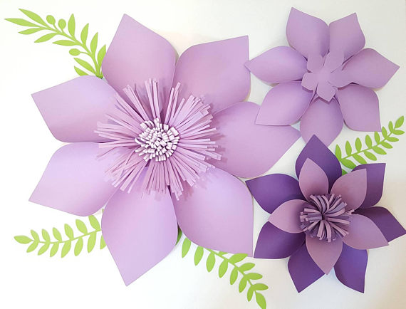 Paper Flower Template Pdf Digital Version Sunny Flower Paper
