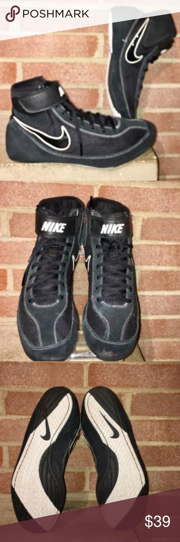 detailed look 825bd b26c4 Nike Mens Speed Sweep VII Wrestling Shoes Black NIKE Speed Sweep VII  Black White Wrestling