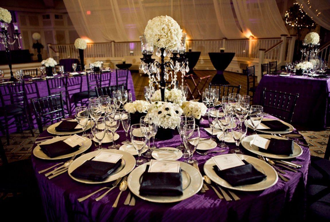 Black And Purple Wedding Decoration Ideas Style Purple Wedding