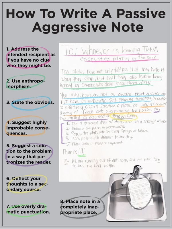 Ha ha ha!  How To Write A Passive-Aggressive Note
