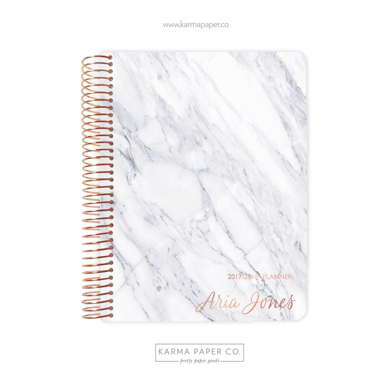 2017 2018 Planner Student Planner Professional Planner Agenda Personalized 2017 2018 Marble Marble Planner Student Planner Professional Planners