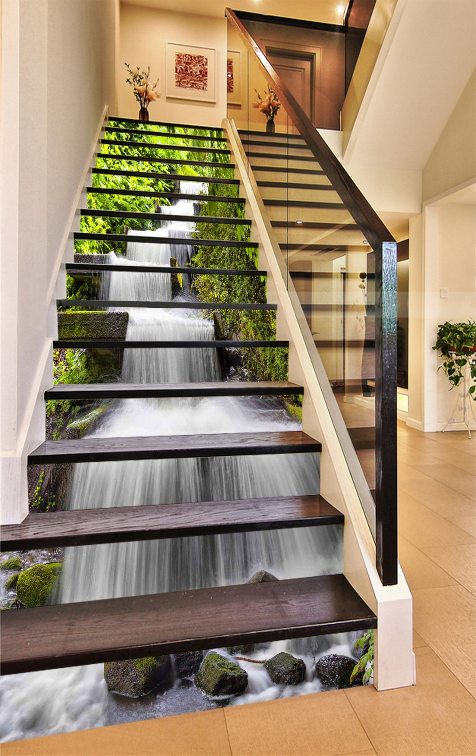 Best 3D Beautiful River 1112 Stair Risers With Images 400 x 300
