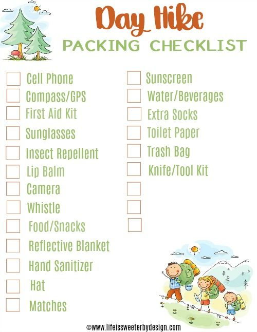 Sample Backpacking Checklist Template Back To School Checklist