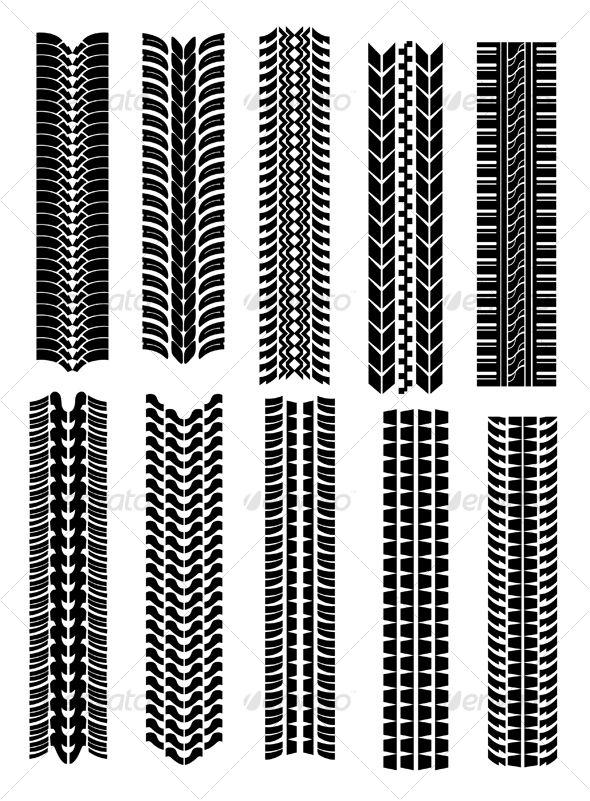 Set Of Tire Shapes Graphic Design Pattern Vector Graphics Design Design