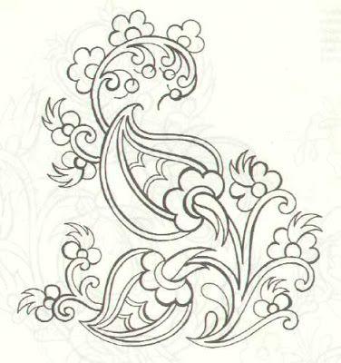 Kumas Boyama Nakis Desenleri Desenler Crewel Embroidery