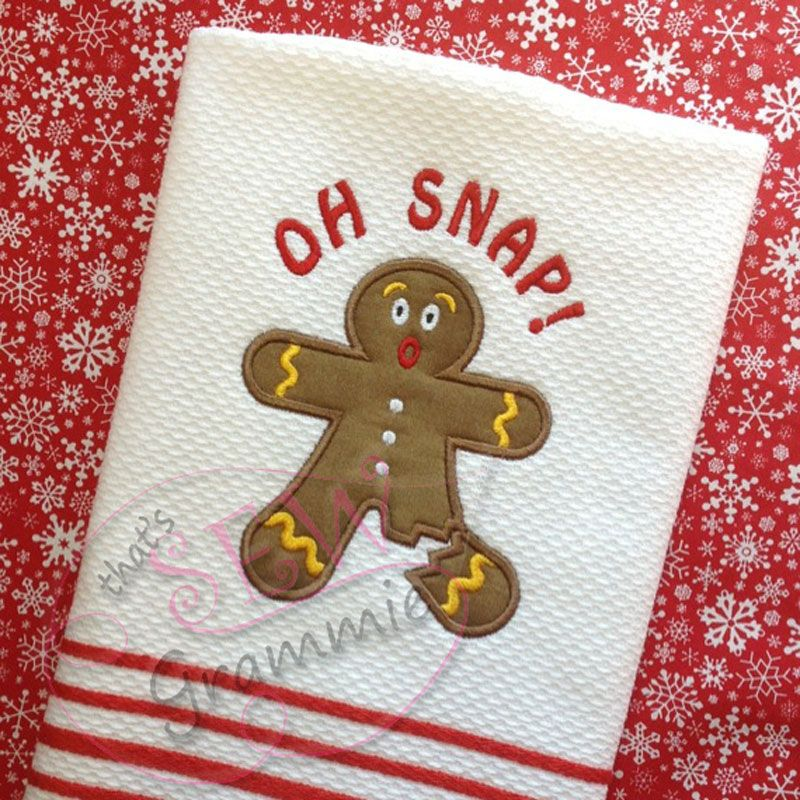 ALL DESIGNS : OH SNAP! Gingerbread Man-Sew Grammie   Applique ...